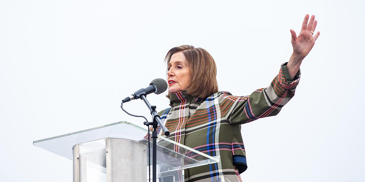 Speaker Nancy Pelosi at the Presidio