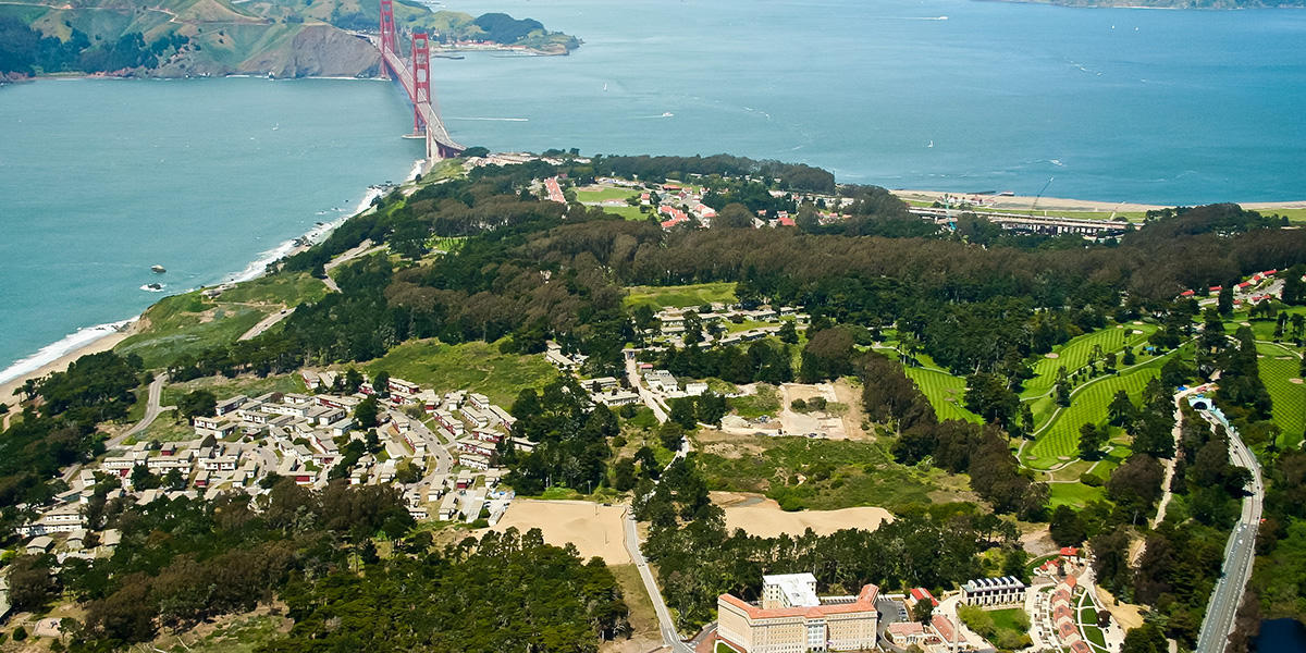 The central part of the Presidio is part of the Golden Gate National Parks but is managed by the Presidio Trust, and a number of projects in this area have also been supported by the Parks Conservancy.