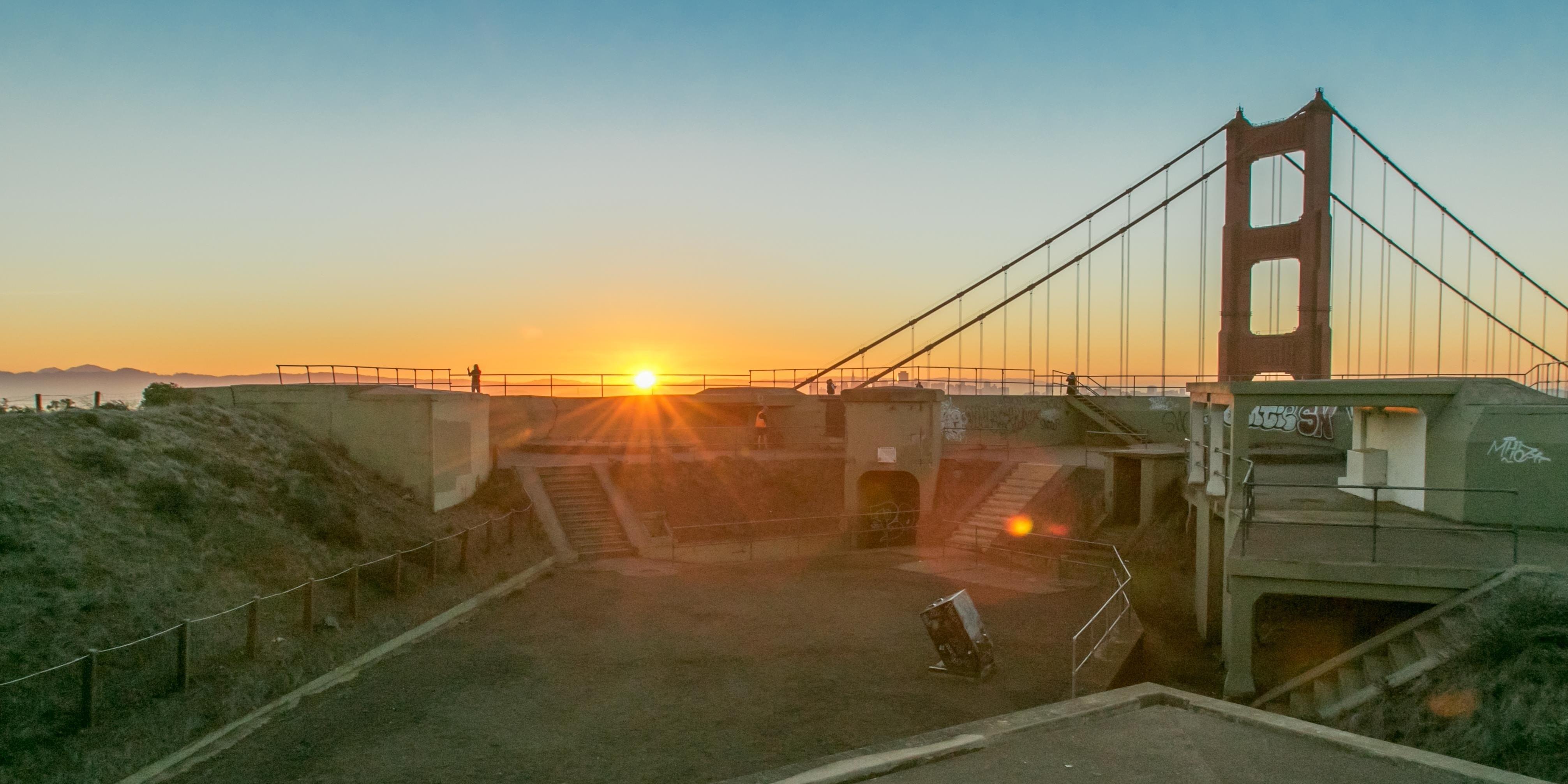 Sunrise from Battery Spencer