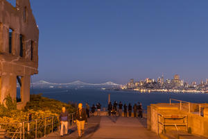 Alcatraz at night
