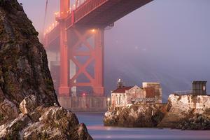 unique Golden Gate Bridge view