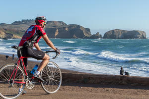 Cycling in the Marin Headlands