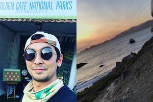 Two San Francisco Park Steward smile