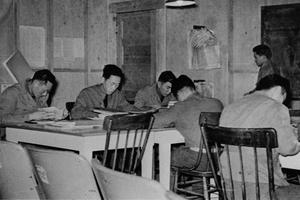 Studying at the MIS school in December 1941