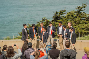 Princeton Tigertones perform at the Eastern Trail Overlook at Lands End