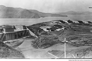 Battery Boutelle before the Golden Gate Bridge was built
