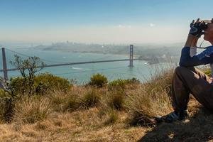 Spectacular views of Golden Gate from the Marin Headlands