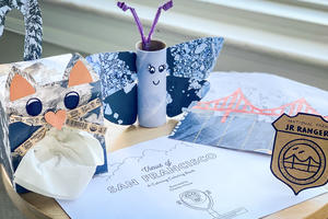 All park crafts listed on webpage displayed on a table