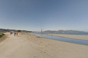 Screenshot of Google Street View of Crissy Field