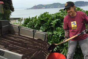 Volunteer on Alcatraz Island