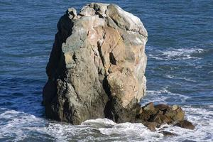 Some of the interesting geological formations seen from Lands End were once hills in a vast plain that extended 27 miles past the current California coastline.