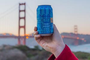 Golden Gate Bridge with Fort Point Beer from Trail Mixer