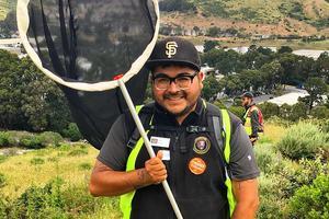 San Mateo Park Stewardship intern Samuel Peña.