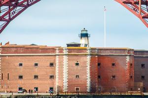 Fort Point National Historic Site underneath the Golden Gate Bridge