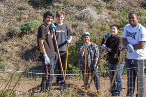 Teens Volunteering with Stewardship Trails Program
