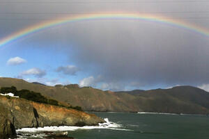 On an introductory park tour for new staff, the sky offered this most glorious welcome at Point Bonita