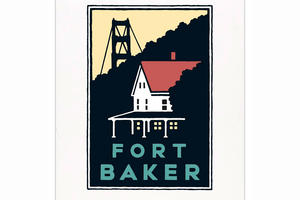 Schwab image of Fort Baker overlooking the Golden Gate Bridge