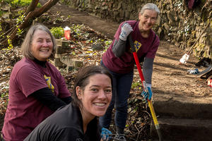 Volunteers Working in Black Point Historic Garden