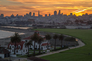 Crissy Field view from the Presidio