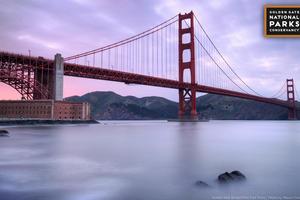 Desktop background: Golden Gate Bridge from Fort Point