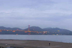 Golden Gate Bridge webcam view, December 2019
