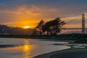 Sunset over Crissy Field Marsh