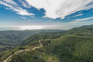Aerial view of Rancho Corral de Tierra trails
