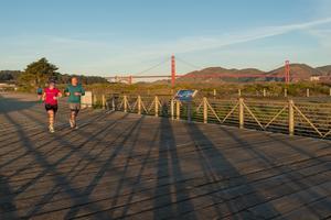 Joggers enjoy the Crissy Field Promenade