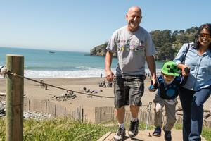 Family outing at Muir Beach