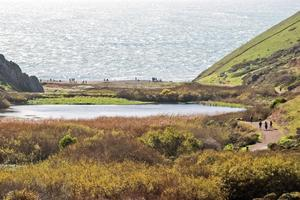 View over Tennessee Valley toward the beach and ocean