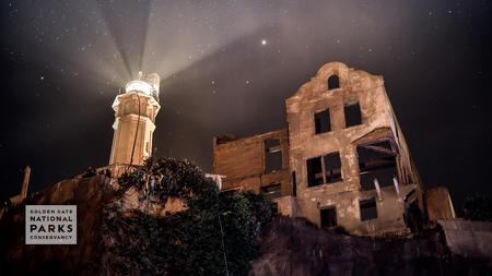 Alcatraz Lighthouse at night