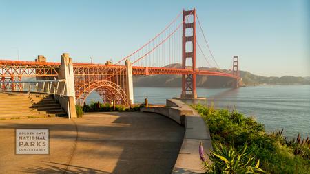 Golden Gate Bridge taken from overlook in San Francisco