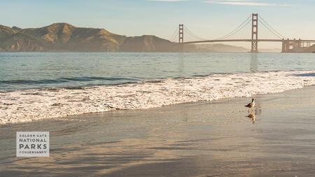 Golden Gate Bridge view from China Beach