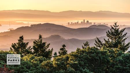 San Francisco from Mount Tamalpais, at sunrise.