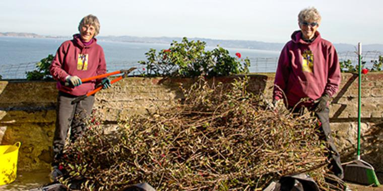 Alcatraz Garden Volunteers