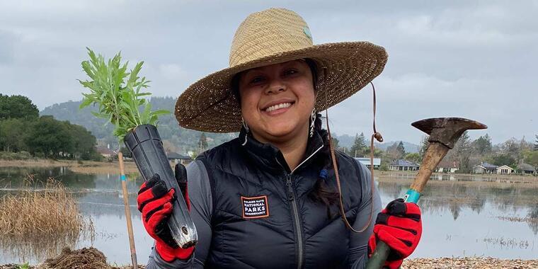 Volunteering on Mt. Tam.