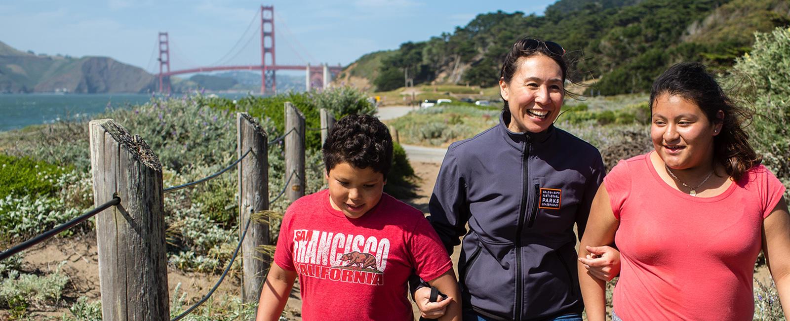 Camping at the Presidio program participants