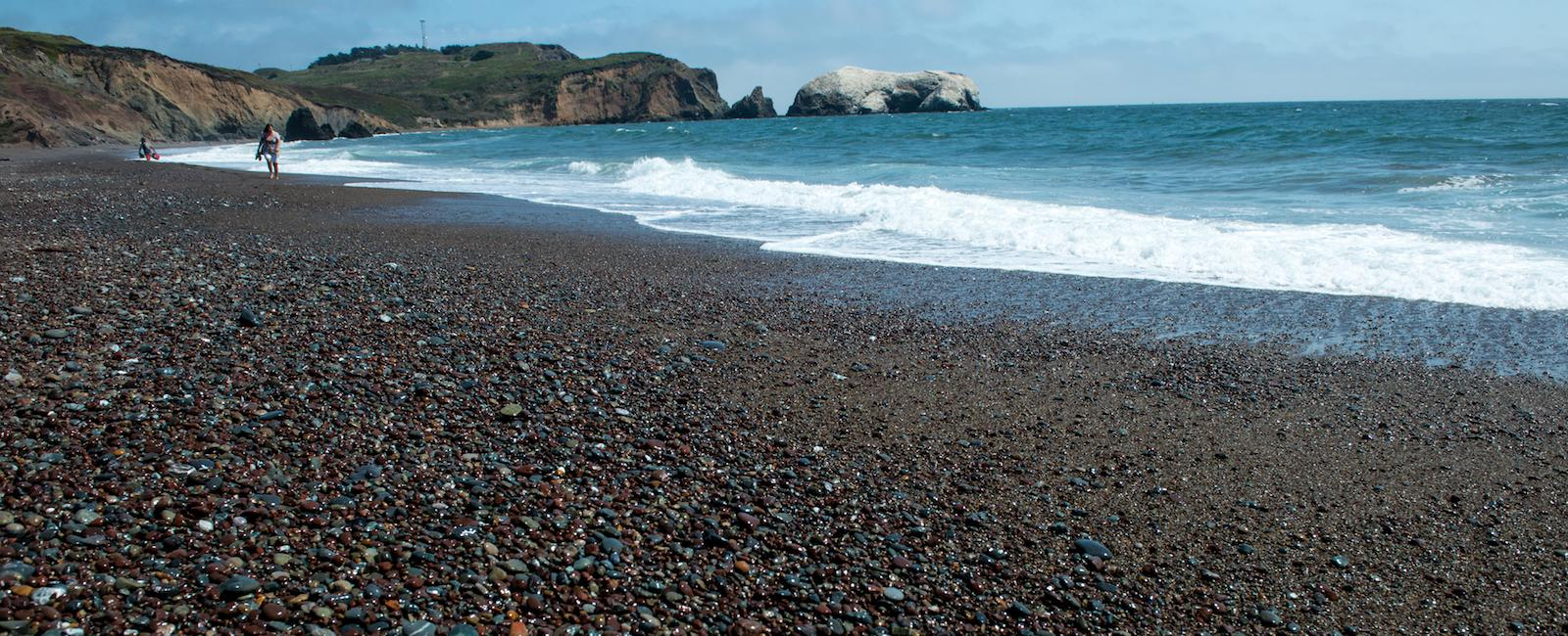 Rocky shores at Rodeo Beach