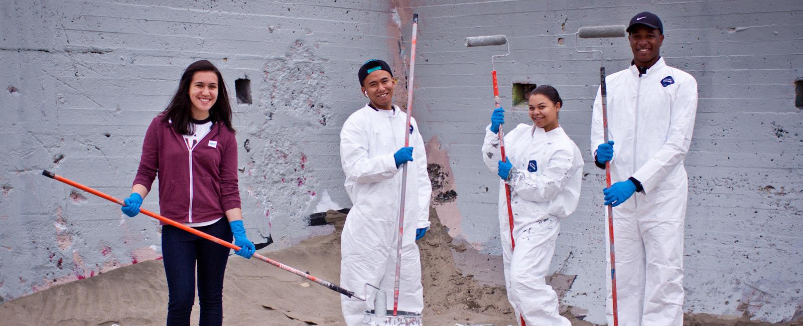 Volunteers Maintaining Ocean Beach