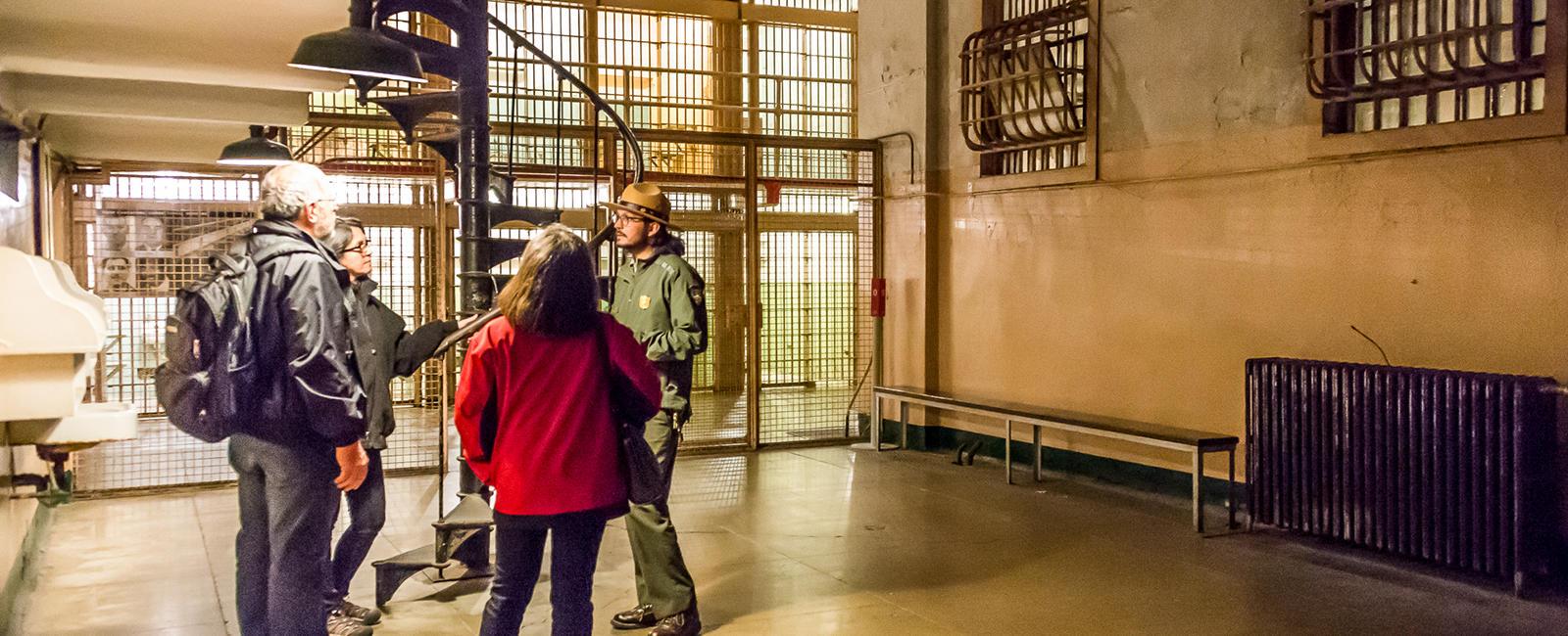 Alcatraz cell block visitors
