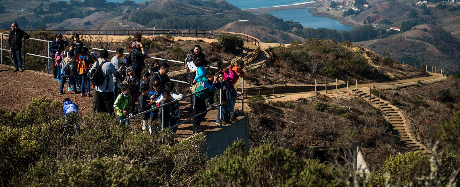 Panoramic vistas from the Hawk Hill Trail
