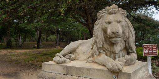 Lion statue at Sutro Heights Park