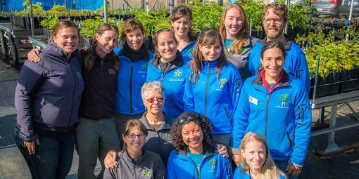 Presidio Native Plant Nursery staff
