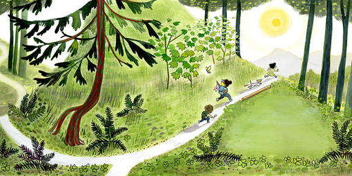 """Alison Farrell's Art Work for """"The Hike"""""""