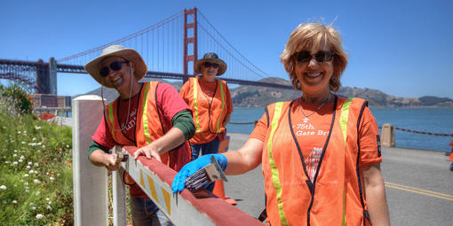 Volunteers Helping out at Fort Point