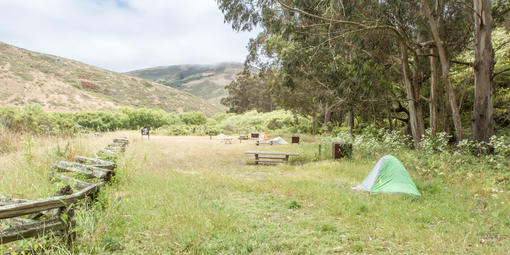 Tents at Haypress Campground