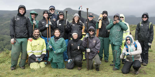 Interns and staff in the Marin Headlands in 2018.