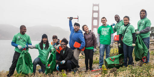 Park Stewardship Team at the Presdio Bluffs