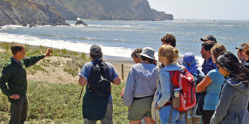 Park Academy Dune Ecology hike at Baker Beach