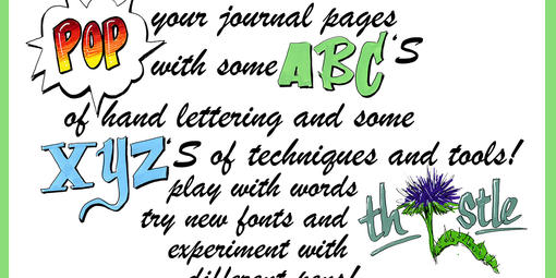 Creative lettering for nature journaling.